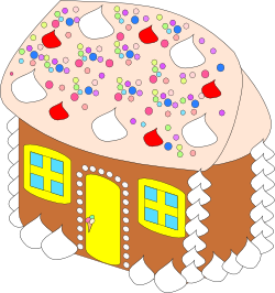 [gingerbread house]