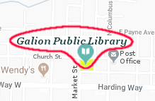 [map showing the location of the library]